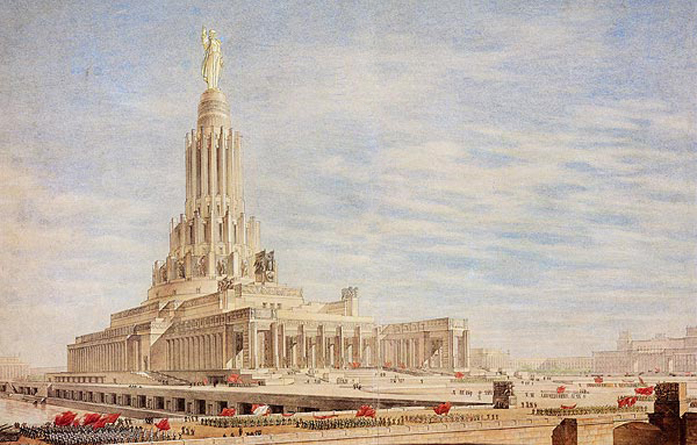 "The tender for the Palace of the Soviets in Moscow was one of the largest and representative architectural competitions of the last century. The idea of erecting a building in the capital of the world's first state for workers and peasants as a symbol of the ""imminent triumph of communism"" first appeared in the 1920s."