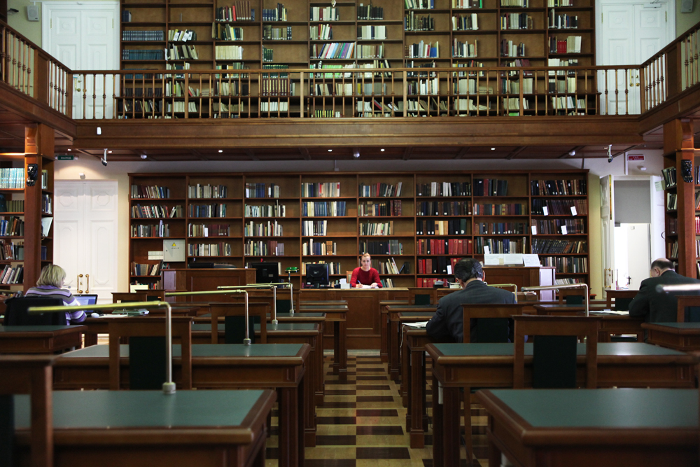 The Russian State Library  houses a unique collection of domestic and foreign documents in 367 languages of the world, with more than 45.5 million units in storage. It is situated in the center of Moscow (Vozdvizhenka, 3/5;nearest tube stations: 'Arbatskaya', 'Aleksandrovsky Sad', 'Borovitskaya', 'Biblioteka Imeni Lenina')