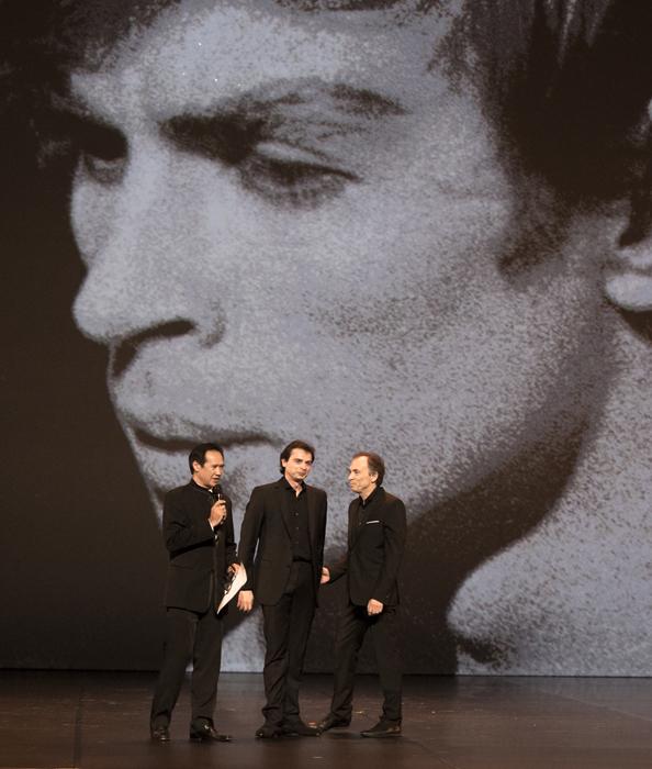 La représentation comprenait des artistes de l'Opéra de Paris, du Ballet Royal au Covent Garden, du Dutch National Ballet, du Ballet de Berlin, ainsi que des théâtres russes Mariinsky et du Bolchoï.