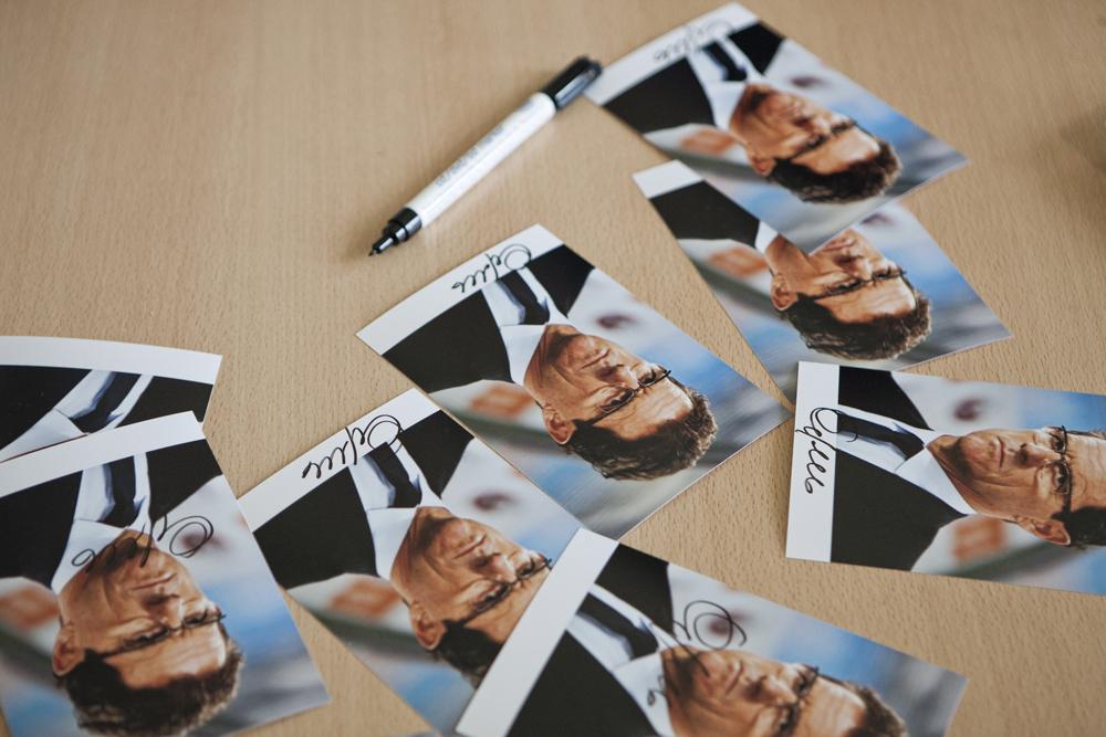 Centinaia gli autografi firmati dal mister, che se ne è andato ricordando ai ragazzi l'importanza di avere degli obiettivi da seguire nella vita