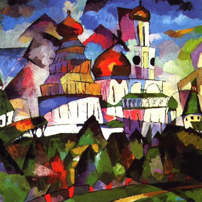 "Russian painter Aristarkh Lentulov was born on March 14, 1882, near Penza into the family of a priest. As one of the initiators of the Jack of Diamonds group (1910), which also included Vassily Kandinsky, Petr Konchalovsky, Kazimir Malevich, and others, he represented its ""naive"" and ""national"" wing. At the same time, he was the most consistent of the Cubo-Futurists. // ""Churches. New Jerusalem"", 1917"