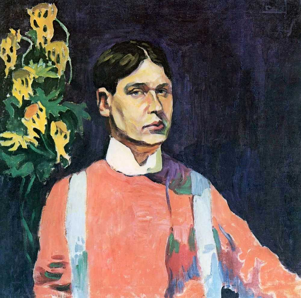 "In the years 1908-1909, he created ""Self-Portrait in Red,"" which is regarded as a landmark in his oeuvre. In 1908, Lentulov had his head turned by Cubism and even went to Paris, where the works of Picasso and Braque were on view. In 1910, while still in Paris, Lentulov enrolled at the La Palette Academy of Painting, where the lecturers were devotees of Cubism. // ""Self-Portrait in Red"", 1909"