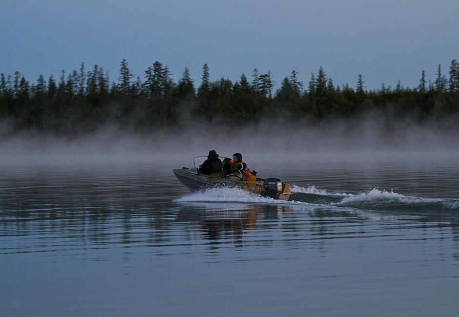 Les gens sillonnent la rivière Indigirka, traversant des dizaines de kilomètres à la recherche de bancs de glace et de talus. Une défense de 64 kg de haute qualité est une très bonne « prise » pour quelques jours de recherche.