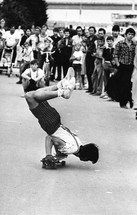 ストリートスタイルやフリースタイルもまた、ソ連のスケーターの間ではポピュラーだった。