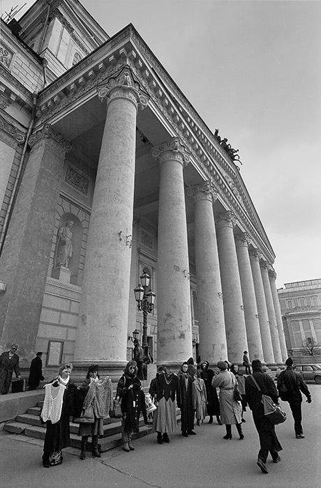 ... or a black market next to The Bolshoi Theatre, 1992...