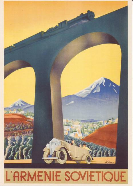 """""""Visite a ensolarada Armênia"""", 1935."""