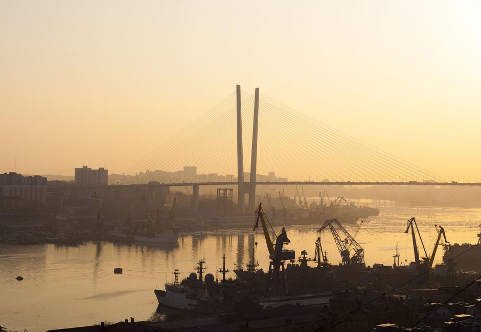 Vladivostok, située au nord-ouest de la mer du Japon, a été fondée en 1860 en tant que base militaire, et l'importance de la ville, en tant que plate-forme de la flotte pacifique, a impliqué que le port soit proche des flux commerciaux tout au long du XXème siècle. Aujourd'hui, cependant, c'est une grande source de développement pour cette ville de près de 600 000 habitants.