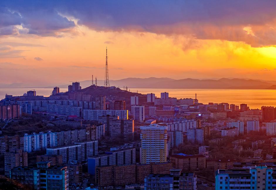 Vladivostok, situé à 130km de la frontière avec la Corée du Nord, est l'une des villes les plus à l'Est de la Russie.