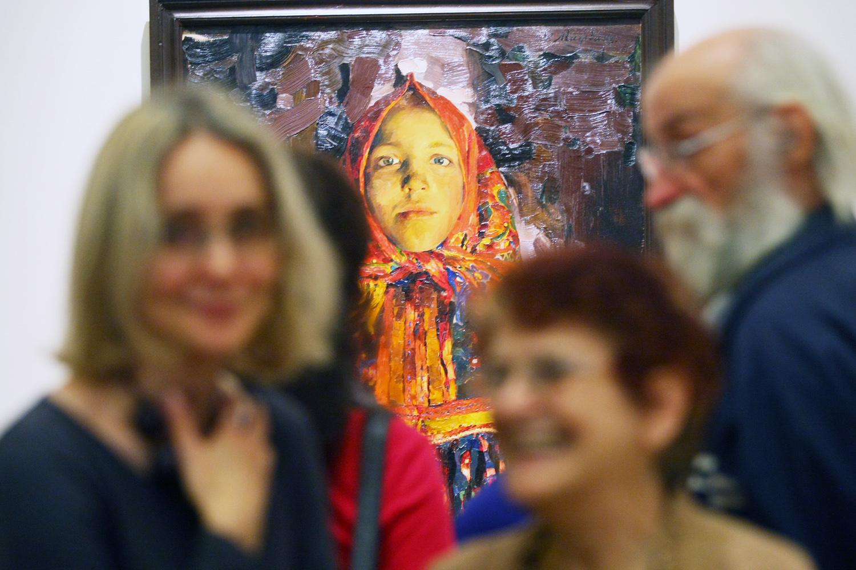 Verka, 1913. Cette toile se trouve au Musée russe.