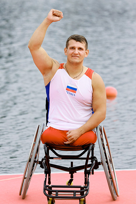 Of the 14,000 torchbearers, only 14% are professional athletes. The remaining 86% represent the widest possible variety of professions and social strata. // Aleksey Chuvashev, bronze medallist at the London Paralympic Games