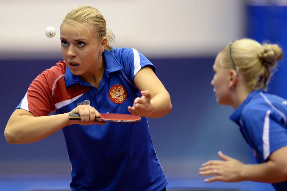 Russian pair Yana Noskova and Elena Troshneva took bronze in the women's table-tennis doubles, breaking Asia's long-standing hegemony in the event.