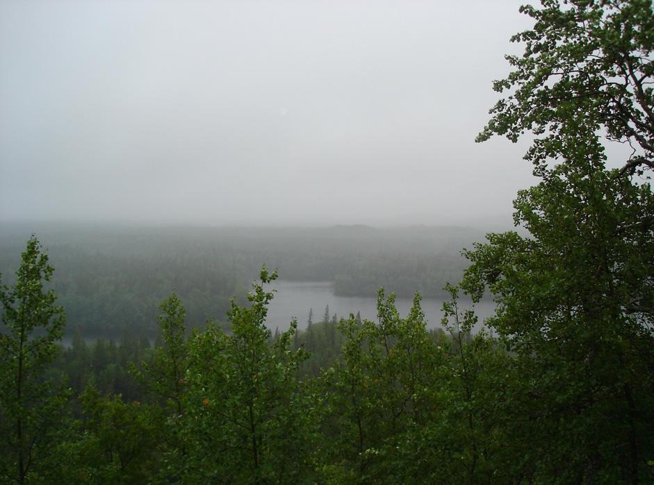 ソロヴェツキー集落から舗装されていない道が、森を12km抜け、諸島で最も高いセキルナヤ・ゴラ(手斧丘)(海抜96メートル)へと導く。