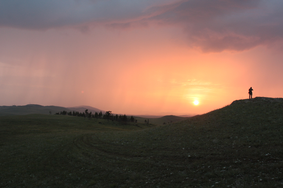 The weather in Khakassia is changeable. But almost every evening ends in a fiery sunset.