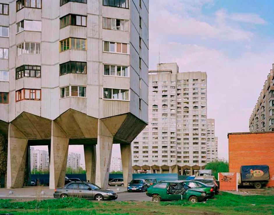 ロシア、レニングラード、公営団地群。