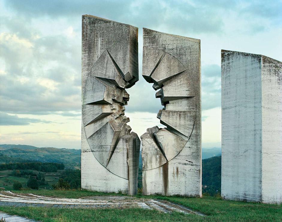 Yougoslavie, Krusevo, Monument abandonné en Yougoslavie.