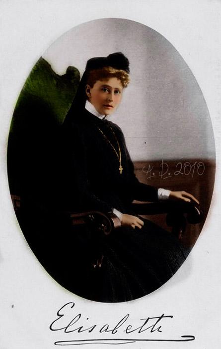 夫の大公の死後、エリザヴェータは貴重品を売却し(ロマノフ王朝の一部を成すものは同家の宝物庫に返却した)、その収益で4軒の家と広大な庭園がついたボリシャヤ・オルディンカ通りの邸宅を購入し、1909年にマルフォ・マリインスキー女子修道院を設立した。