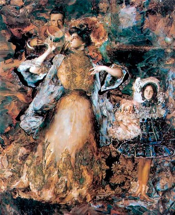 「芸術院会員」の地位を授与されたマリャービンは、パリに3年間滞在し、1911年1月には「家族の肖像」という作品を展示し たが、これはすべての評論家によって失敗作とみなされた。それ以来、彼はほとんど自分の作品を展示しなくなった。