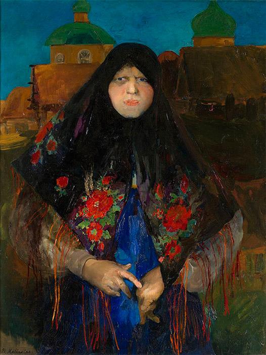 それでも、彼は精力的に描き続けた。彼は注文による肖像画を描き、イーゼル画の分野で大いに活躍した。きわめて表現豊かで正確 な線の描写能力を有するデッサン画家としての彼の資質は、ここに発揮された。/ 富裕な小作農の肖像。