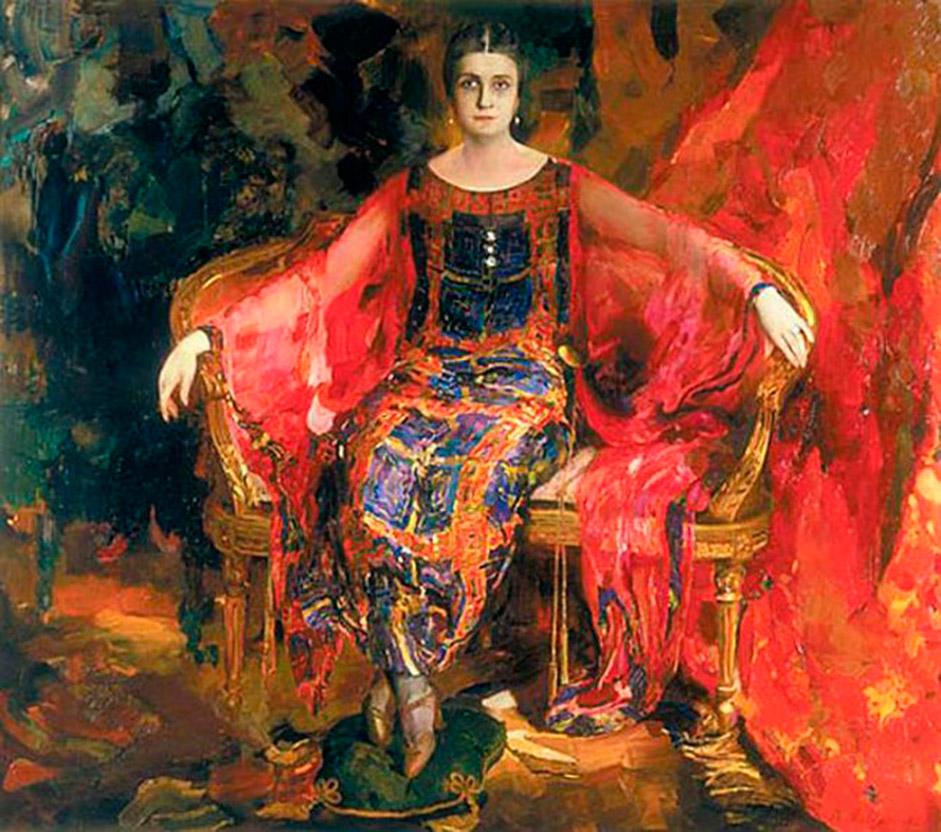 1922年に、マリャービンはパリに移住し、そこのシャルペンティエ画廊で1924年に開かれた彼の作品の展示会は、たいへん な成功を収めた。ロシアの題材を扱った作品のほかにも、彼は風景画や肖像画を描いた。彼の筆になる最も有名な肖像画は、バレリーナのアレクサンドラ・バラショーワ(1924年)だ。