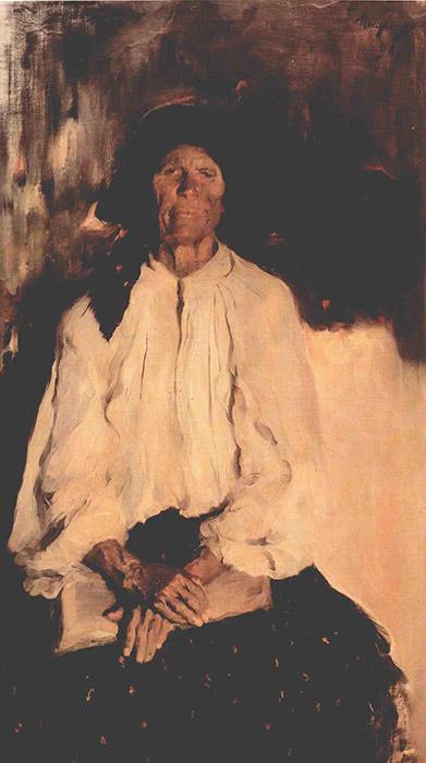 マリャービンは、風俗画や歴史画の巨匠である、ロシア人画家イリヤ・レーピンの弟子になった。1898年の作品『老女』などの小 作農の肖像に代表されるマリャービンの初期の作品は、すでに彼に名声をもたらしていた。