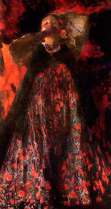 20世紀の最初の10年が、マリャービンの才能のピークだった。次のような彼の傑作が描かれたのはこの頃のことだった。『黄色い 服の女』と『女の子』(いずれも1903年)、『2人の女の子』(1910年)などだ。/ 『女の子』