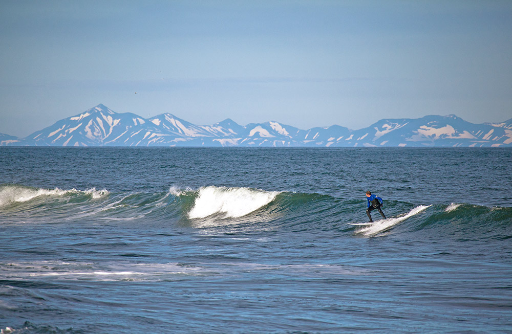 Man kann hier entlang der Küste Robben, Wale und sogar Orcas antreffen. Sie versuchen, sich vom Land fernzuhalten, doch nicht selten sieht man über einem Wellenkamm eine Flosse.