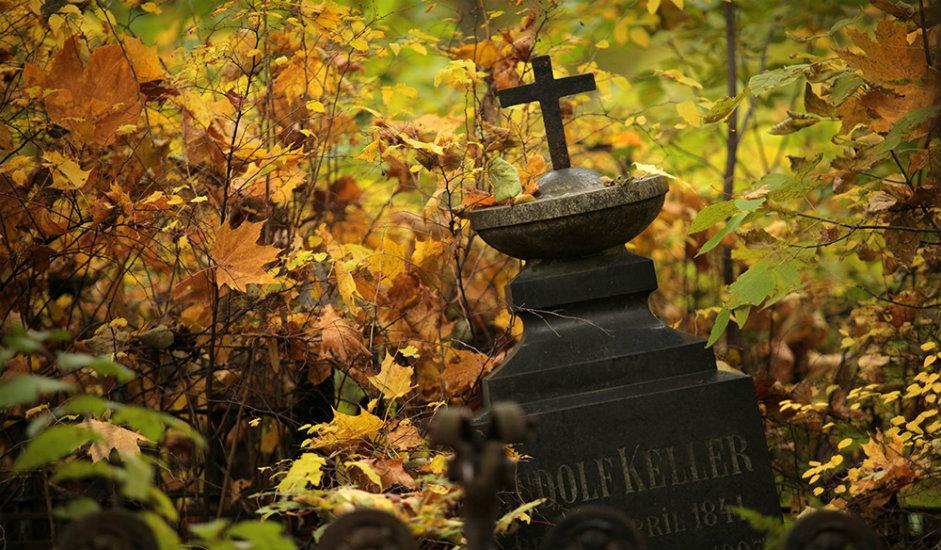 """13/13. У почетку су овде сахрањивани лутерани и католици, тако да је ово гробље било прозвано """"немачко"""" или """"хетеродоксно""""."""