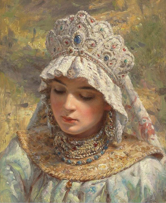 In ancient Rus, women didn't wear hats. Hats were for men. Women had their own headdresses that were even more beautiful and comfortable: kokoshniks. They were made from expensive materials - silk, velvet, or brocade - and were decorated with pearls, lace, stones, and embroidered gold thread.
