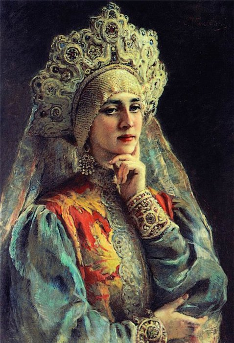 In more recent times, the tradition of wearing a kokoshnik remained as bridal wear until the 1920s. The young bride wore this traditional headdress from her wedding day until her first child was born. Then, she wore the kokoshnik only for ceremonial occasions or holidays.