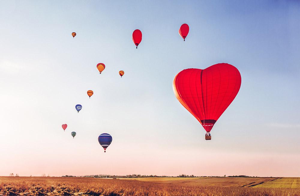 動物が安全に着陸した後、人々も気球に乗るようになった。