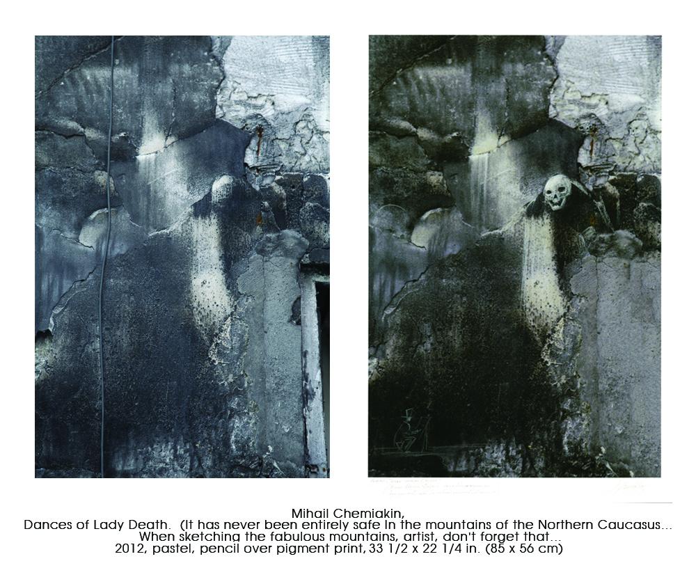 彼は撮った写真の中に幻想的なイメージ、テーマやグロテスクな顔を見つけ出し、出来上がったマット写真にパステルとインクで描き加えた。芸術家自身によると、このプロジェクトのアイディアは彼が30年前ニューヨークに住んでいた頃に思いついたものである。