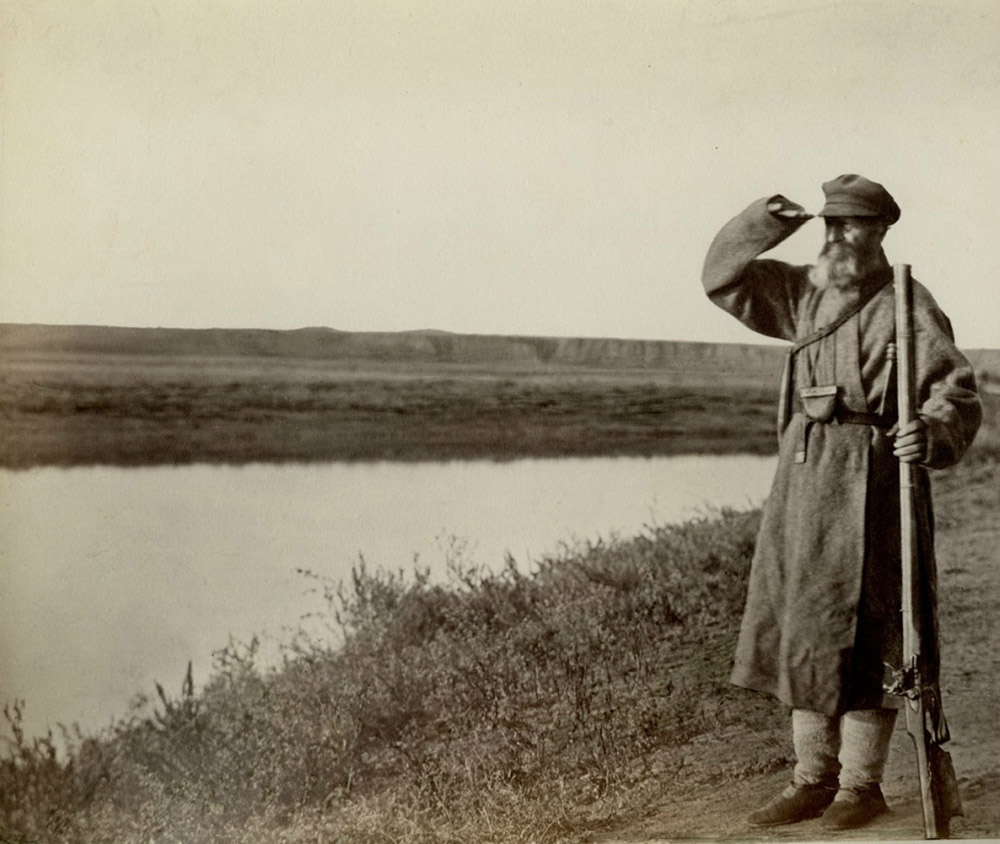 """The Don Album"" is a collection of photographs that Boldyrev entitled ""Views and Types of the Second Don Region (1875-76)"". They consist of dozens of amazing images taken by the photographer in Cossack settlements that he regularly returned to in the summer. / 75 year-old Cossack"