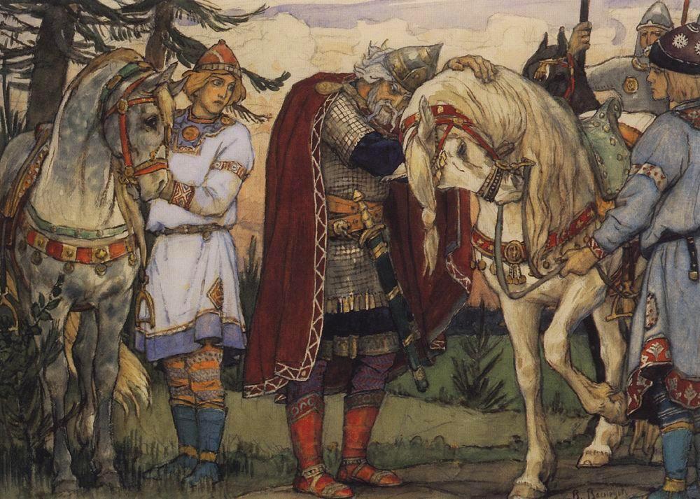 Si ritiene che la diffusione dei libri d'arte in Russia abbia avuto inizio con la pubblicazione delle favole e poesie di Pushkin, illustrate da Viktor Vasnetsov, Elena Polenova e Sergei Malyutin