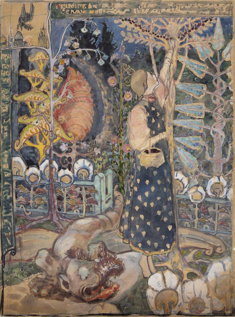 Elena Polenova — sœur du célèbre peintre Vassili Polenov — était une artiste remarquable qui collectionnait et préservait les œuvres d'art populaire avec rigueur. Lors de ses voyages dans des villages russes, elle rassemblait des objets du quotidien des paysans, les peignait, et consignait des récits par écrit.