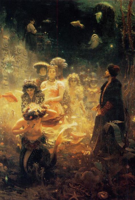 Rien d'étonnant : c'est la nature littéraire des personnages de la peinture russe qui caractérisaient le style pictural russe. Des références directes à la littérature, l'emploi d'images adaptées, et la volonté de transmettre par un langage pictural les sentiments inspirés par la poésie, les paraboles bibliques ou les contes de fées, constituaient la technique la plus répandue dans la culture artistique russe.