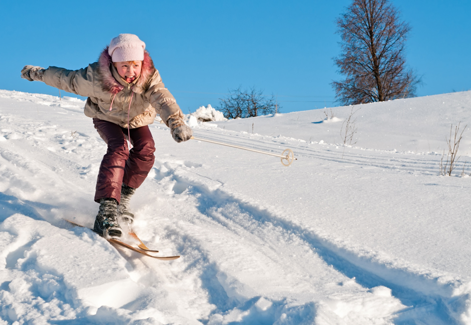 Not only sledges and skis are used to go downhill, but anything that comes to hand, including cardboard, plastic bags, or even pieces of linoleum.