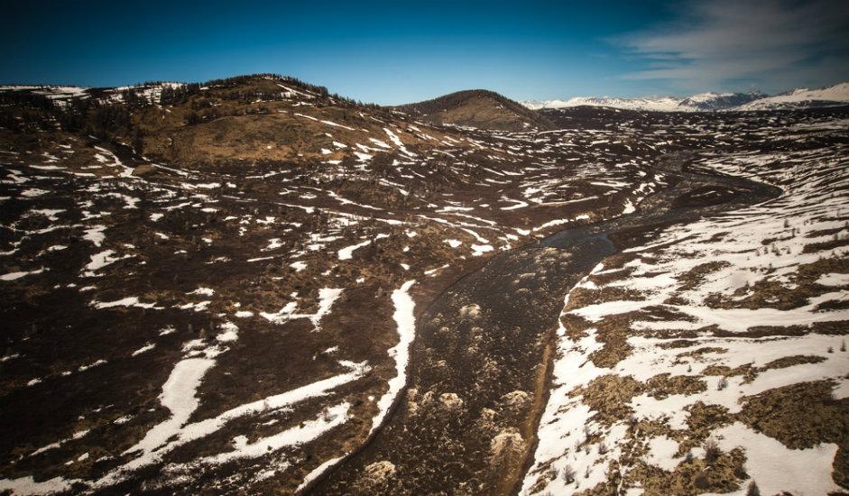Svuda oko jezera je tundra pomiješana sa stepom. To je inače drevni pejzaž koji je nekada bio rasprostranjen u čitavom Sibiru.