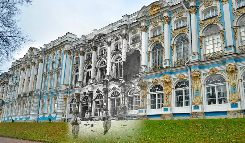 10/16. Совјетски обавештајци испред Јекатерињинског дворца.