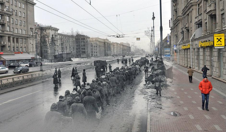 14/16. Колона заробљеника, Московски проспект 186.