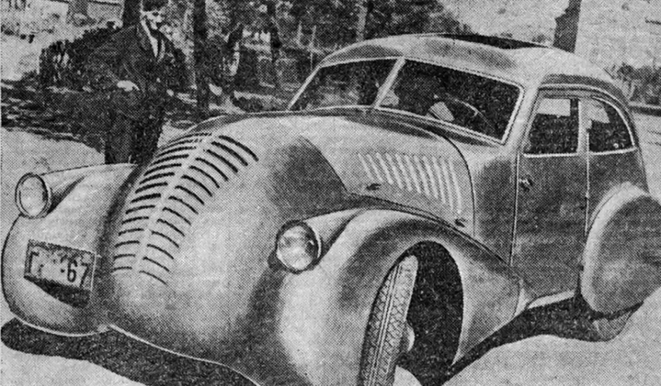 """6/12. """"ГАЗ-Аеро"""". Настао је 1934. по замисли конструктора Алексеја Никитина, као резултат истраживања под називом """"Аеродинамика и аеродинамички дизајн аутомобила"""", што је заправо била тема дисертације овог младог инжењера. Каросерија аутомобила била је израђена од дрвеног оквира са металном оплатом. Направљен је само један примерак, а његова судбина је непозната."""