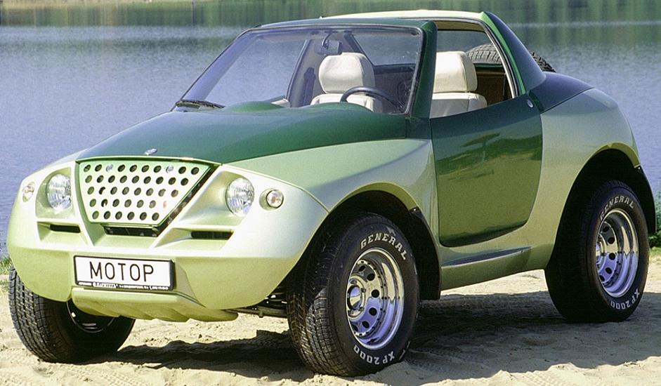 """Cardi Tetra Next, konceptualni terenski automobil, predstavljen je još 1997. Dvosjed s karoserijom tipa """"targa"""" postavljen je na širokom ramu, dok je šasija napravljena na temelju one ugrađene u """"Nivu"""" WAZ-2121. Bilo je planirano da se ovaj model proizvodi serijski, ali je ostao u fazi konceptualnog vozila - još jedan neuspjeli pokušaj inženjera entuzijaste Sergeja Ališeva da doda notu profinjenosti ruskoj automobilskoj industriji."""