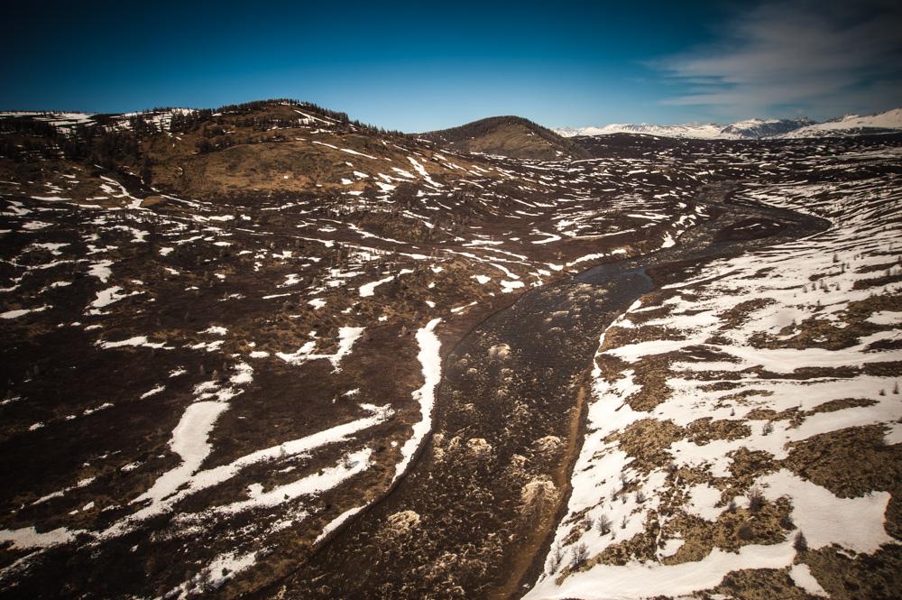Wilayah ini dianggap tundra stepa, sebuah bentuk lahan kuno yang pada zaman dahulu terhampar di seluruh Siberia.