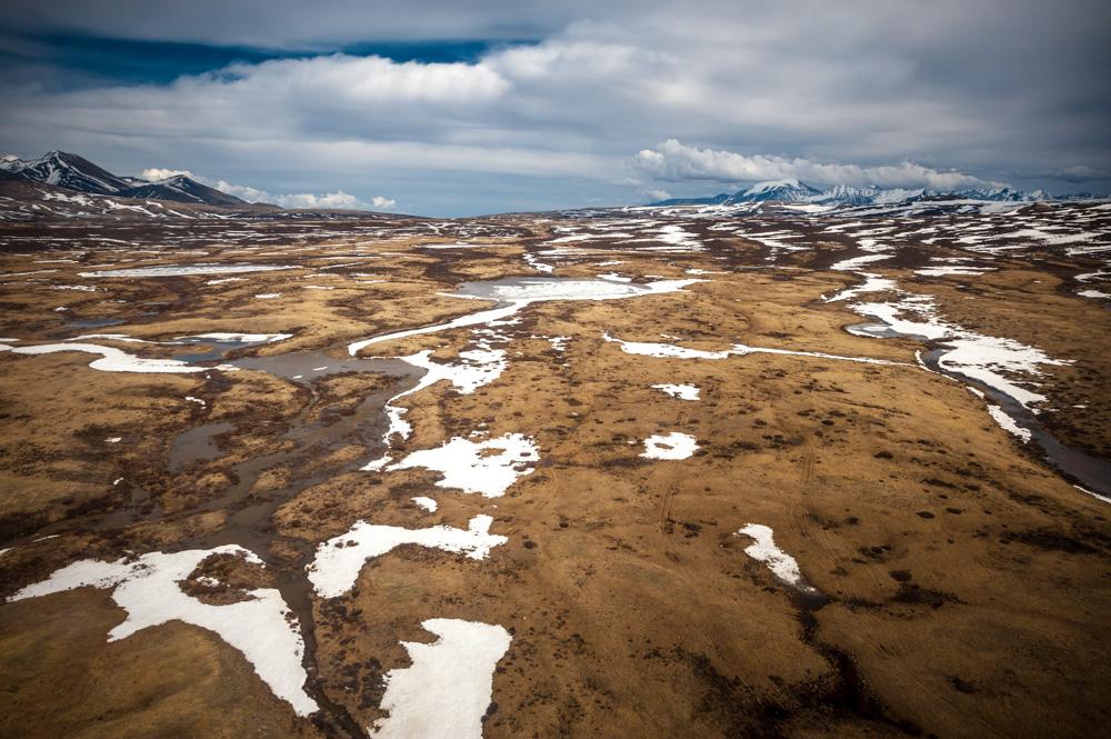 Di sekitar Dzhulukul, Anda dapat menemukan lebih dari tiga ratus danau dangkal dengan tepi yang lunak dan dikelilingi alang-alang.