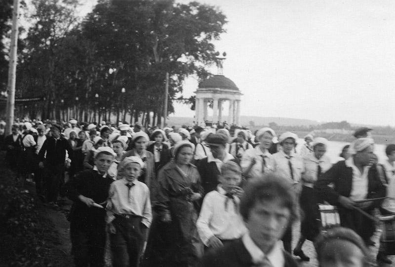Cette photo a été prise au Parc Gorki, ou Parc Central de Culture et de Détente (le nom donné aux parcs ayant ouvert leurs portes dans 10 villes d'URSS).