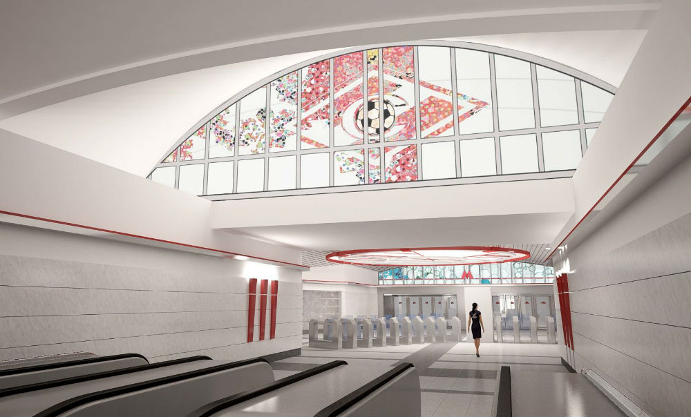 スパルタク駅//現在建設中のこの地下鉄駅は、スパルタク・スタジアムのすぐ隣りに位置する。44,000万人の収容能力を有するこのスタジアムは、2018年には FIFA ワールドカップの主な会場の一つになる。この駅は、同名の有名なサッカーチームにちなんで命名された。FC スパルタク・モスクワがロシアで最強のチームと称されるのにはそれなりの理由がある。このチームはソ連時代に優勝回数が12回、ロシア連邦になってからは9回あり、そのほかにロシア・カップの優勝が3回、そして欧州クラブの二大トーナメント(チャンピオンズリーグおよび UEFAカップ)で準決勝にまで進んでいる。/開業予定日:2014年