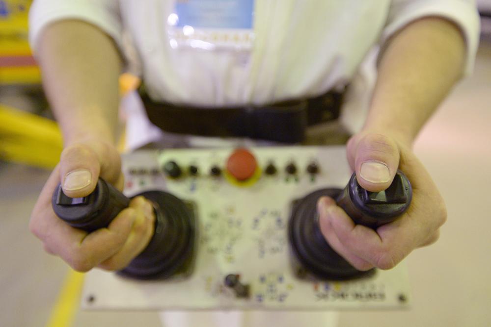 EMERCOM también tiene toda una serie de equipamiento ruso a su disposición: por ejemplo, robots para la localización de fuentes de radiación ionizante.