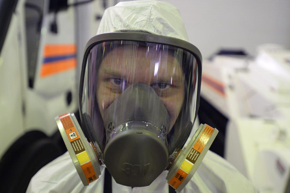 Muchos países reconocen que el EMERCOM es líder en el campo de ambientes corrosivos, radioactivos y de limpieza de minas.