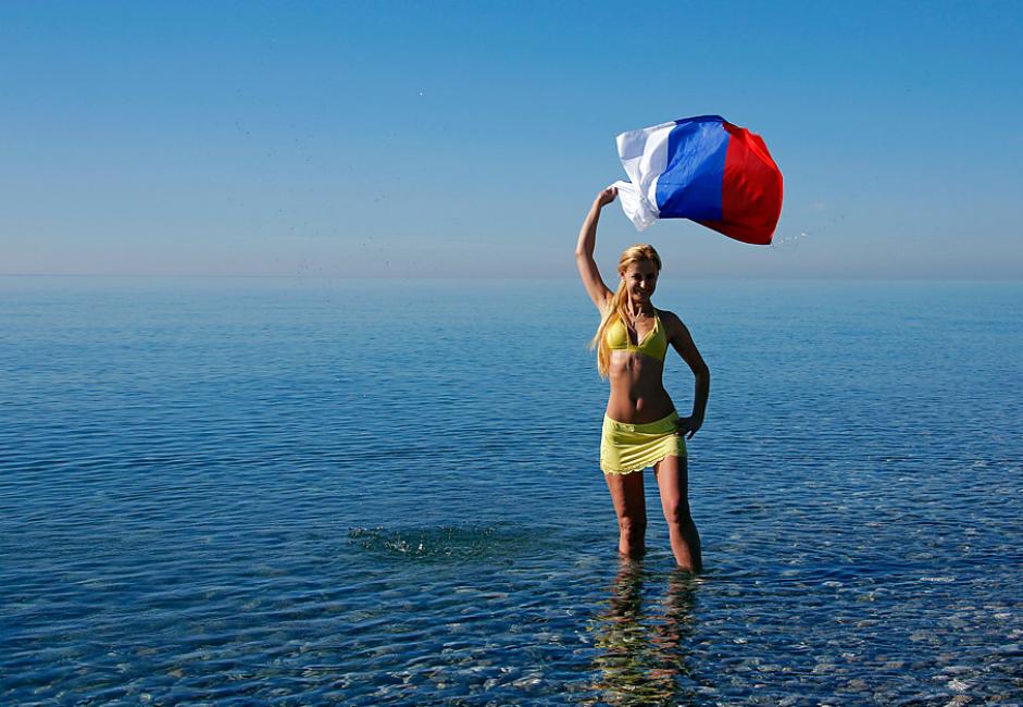 Una mujer rusa posando en Sochi.