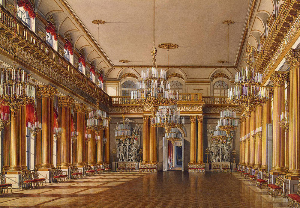 In January 1920, the State Museum of Revolution was opened in the Winter Palace. It shared the building with the State Hermitage right up until 1941. / Armorial Hall