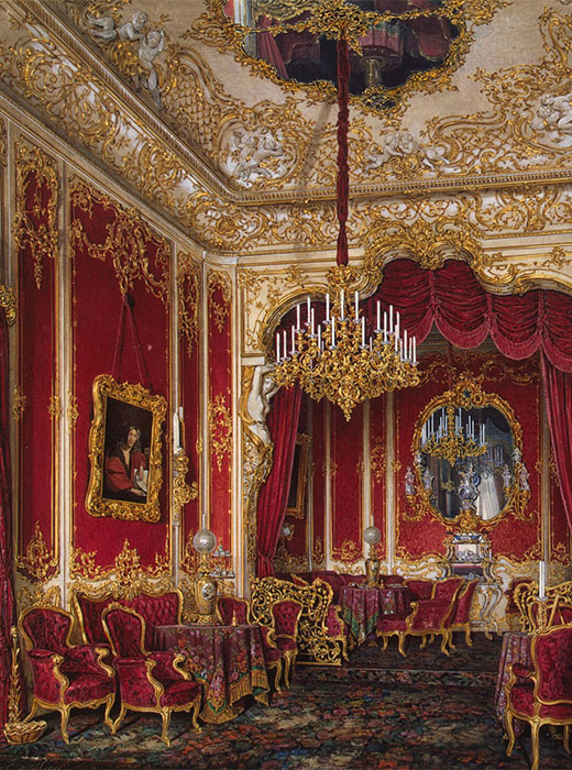 Currently, the Winter Palace and the Hermitage Museum are one of the most popular attractions for tourists from around the world. / Empress Maria Alexandrovna's boudoir